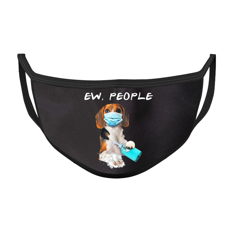 Beagle washing hands ew people face mask 2