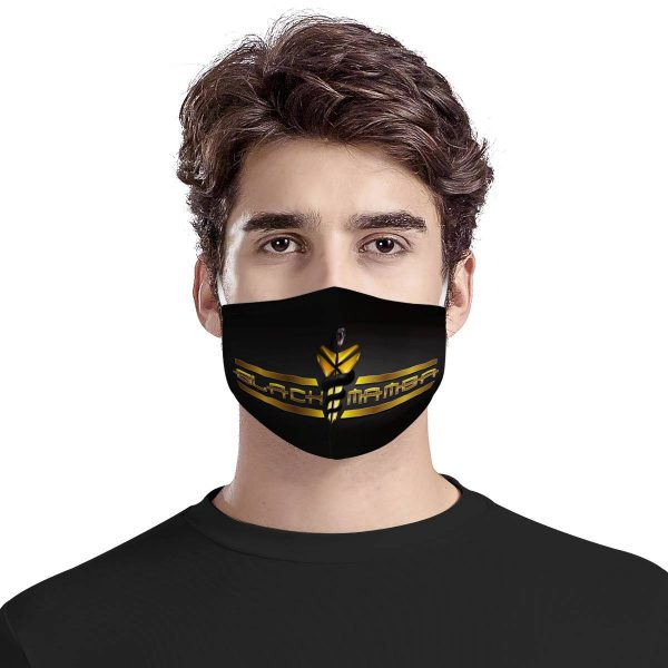 Black mamba full over printed face mask 2