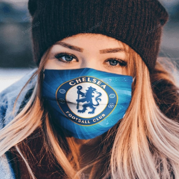 Chelsea football club anti pollution face mask 4