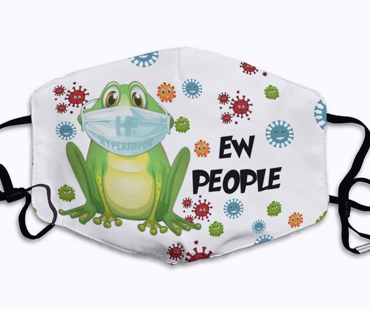 Crazy frog ew people full printing face mask 1