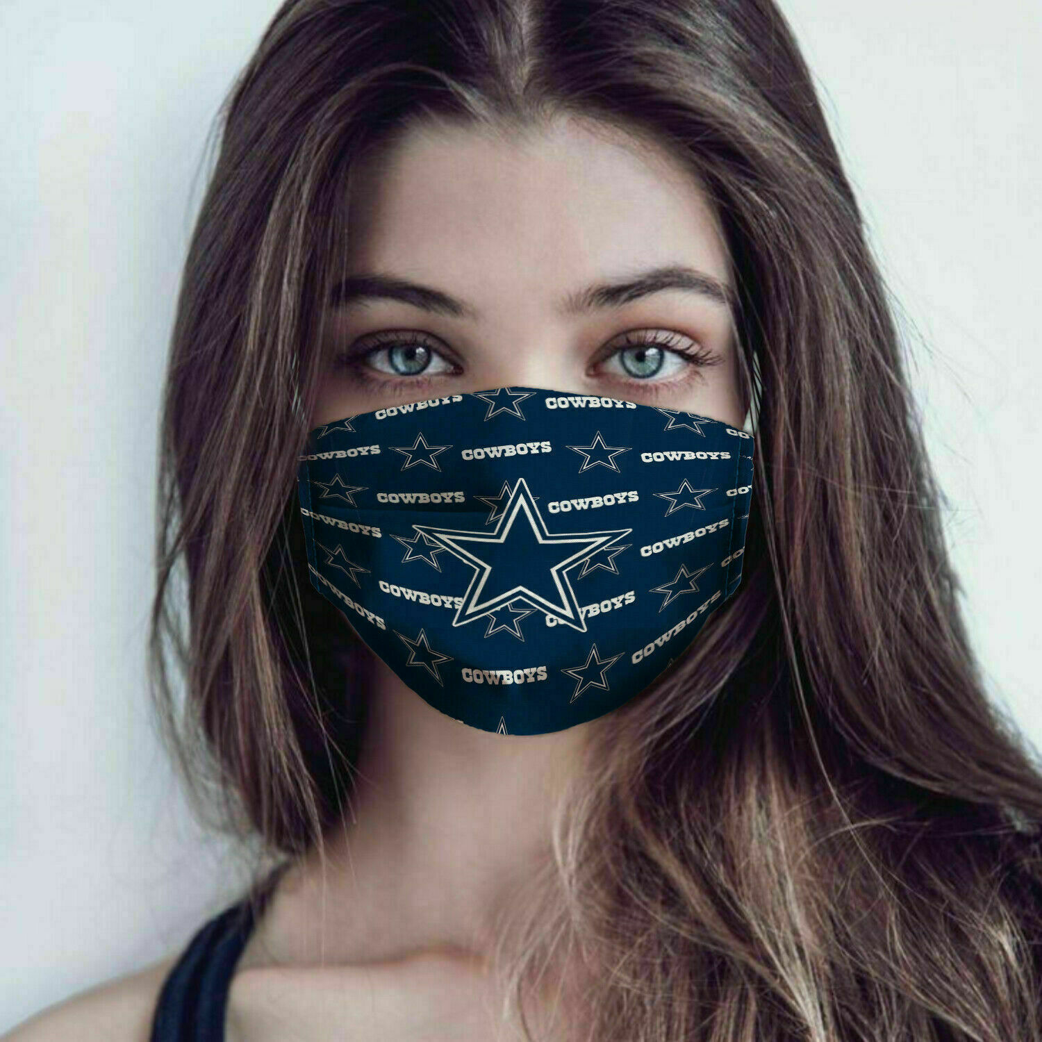 Dallas cowboys full over printed face mask 2