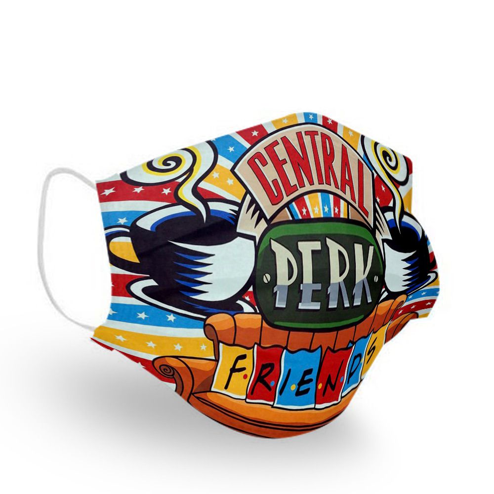 Friends tv show central perk anti pollution face mask 1