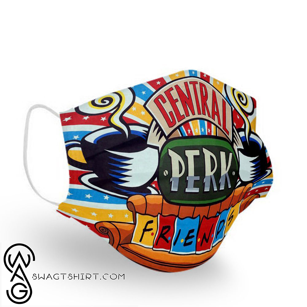 Friends tv show central perk anti pollution face mask(1)