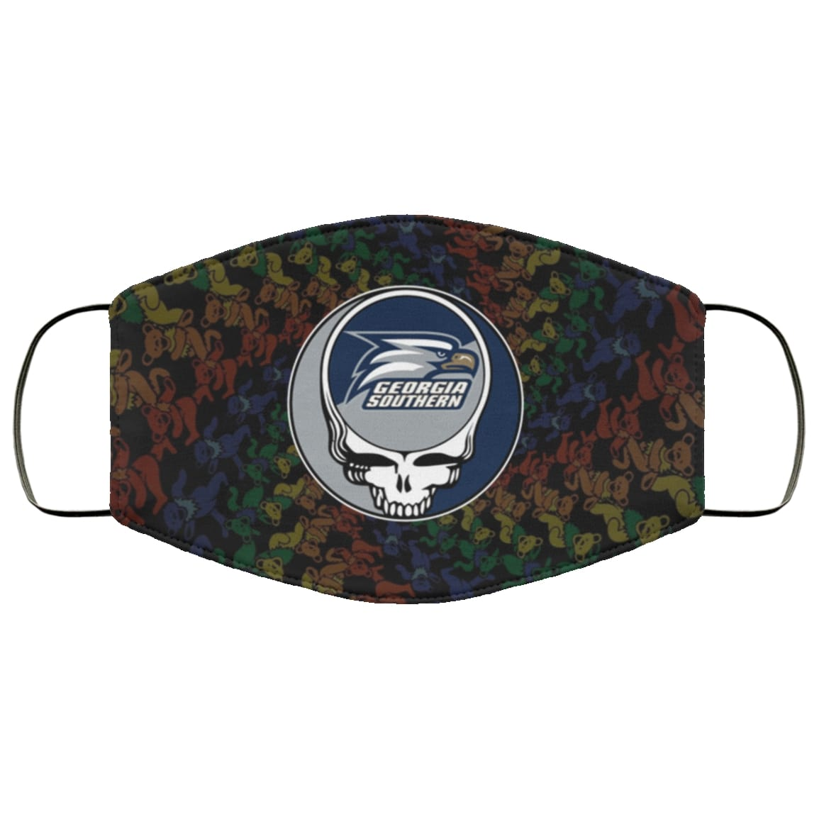 Grateful dead georgia southern eagles full over printed face mask 1