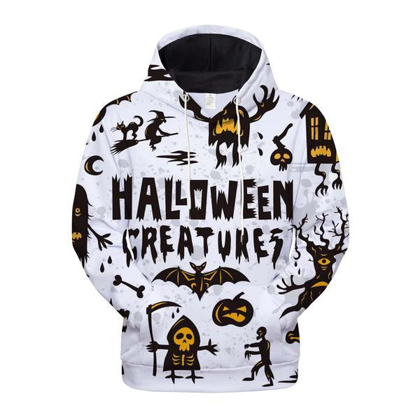 Halloween creatures all over printed shirt 1