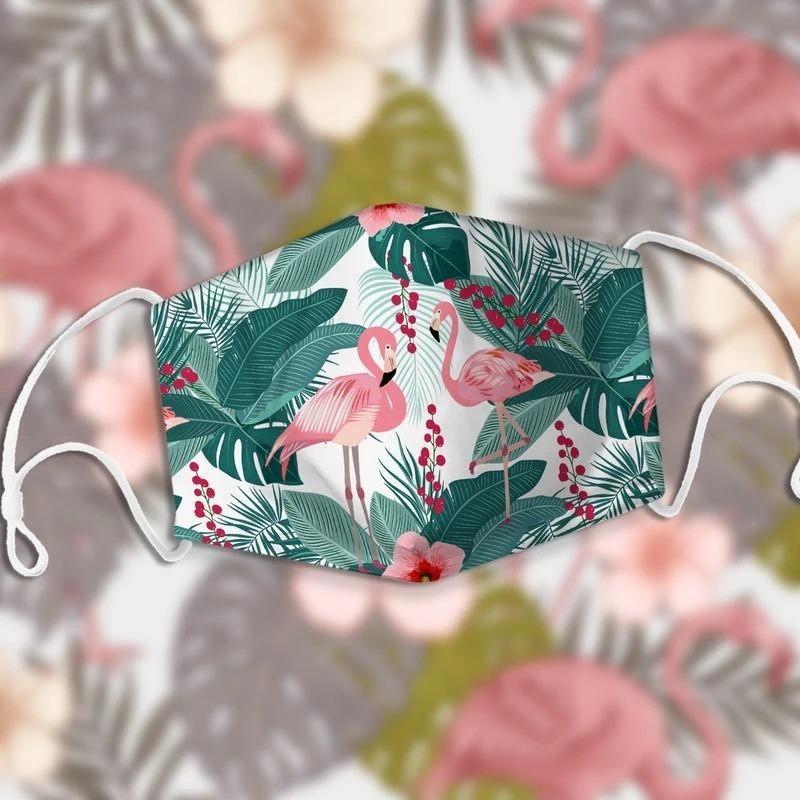 Hawaiian tropical flamingo anti pollution face mask 1
