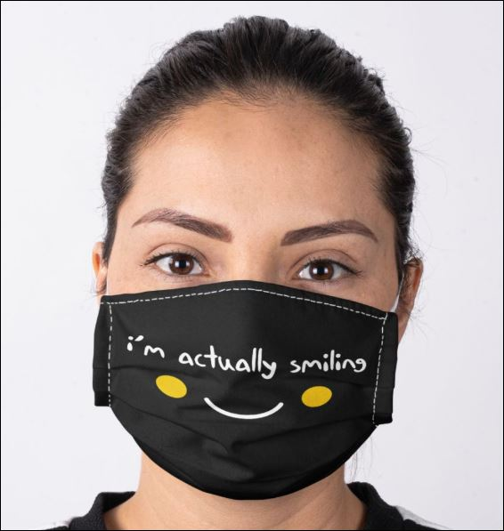 I'm actually smiling anti pollution face mask 1