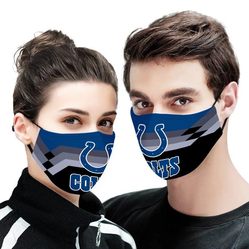 Indianapolis colts full over printed face mask 1