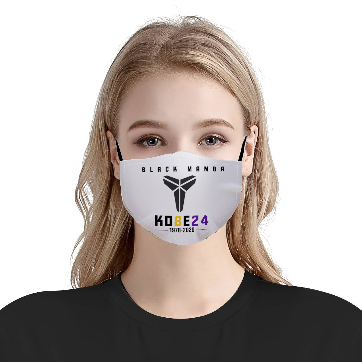 Kobe 24 black mamba 1978-2020 all over printed face mask 4