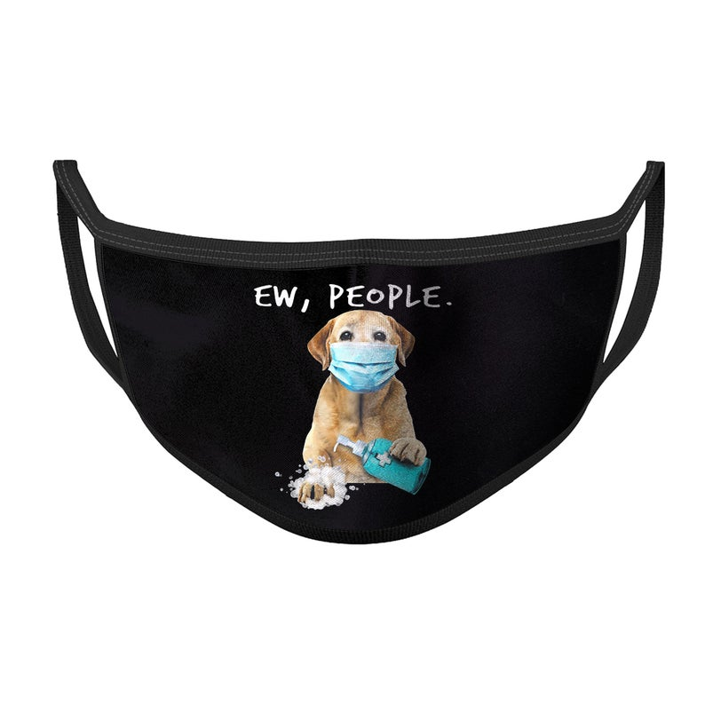 Labrador retriever washing hands ew people face mask 3