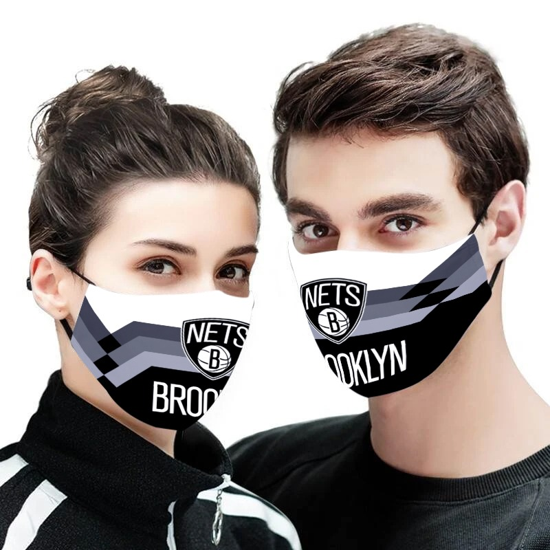 NBA brooklyn nets team all over printed face mask 1