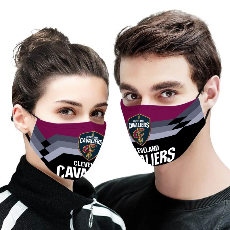 NBA cleveland cavaliers team all over printed face mask 1