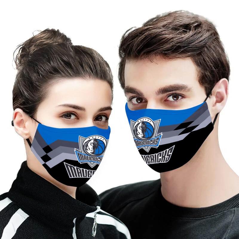 NBA dallas mavericks team all over printed face mask 1