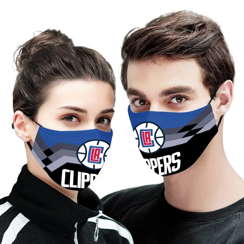NBA los angeles clippers team all over printed face mask 2
