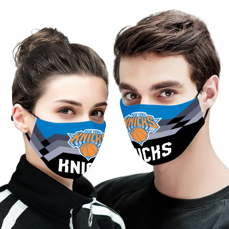 NBA new york knicks team all over printed face mask 2