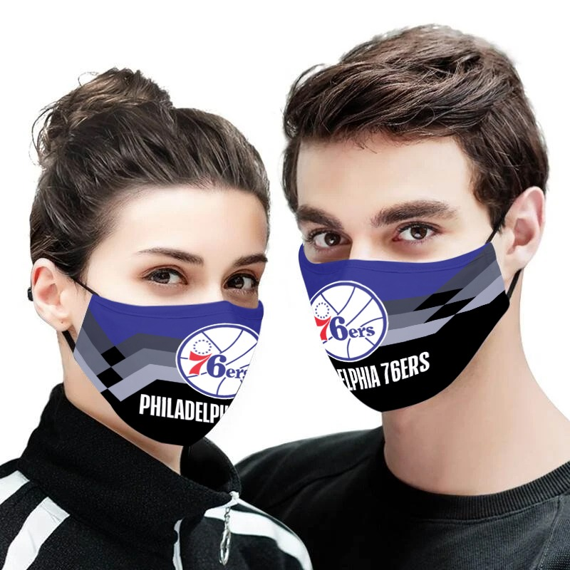 NBA philadelphia 76ers team all over printed face mask 1