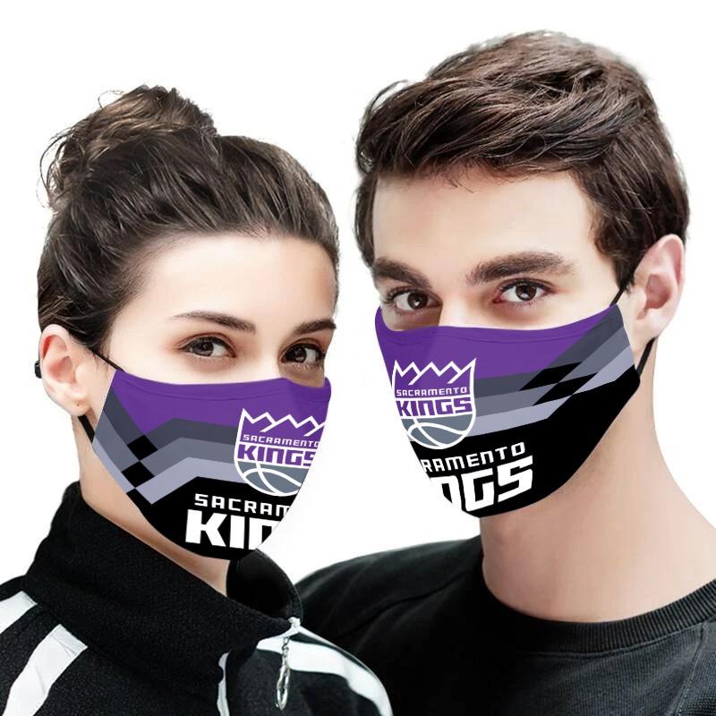 NBA sacramento kings team all over printed face mask 1