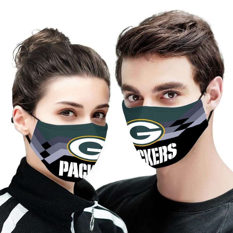NFL green bay packers full over printed face mask 3
