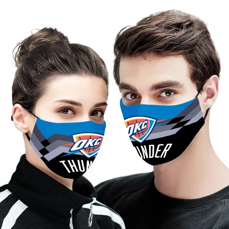 Oklahoma city thunder anti pollution face mask 2
