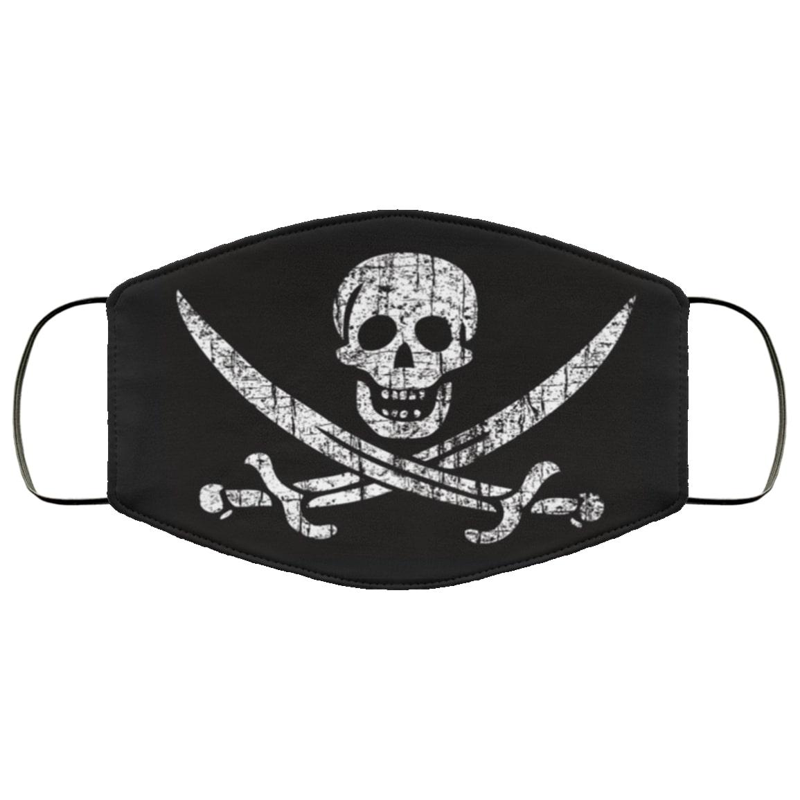 Pirate flags jack captain skull sword full over printed face mask 3