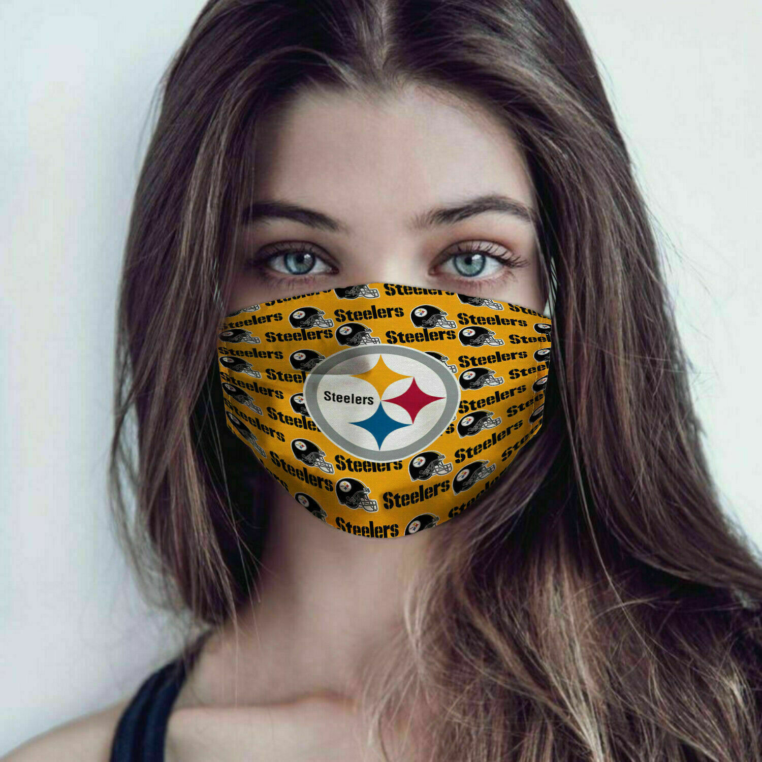 Pittsburgh steelers full over printed face mask 1