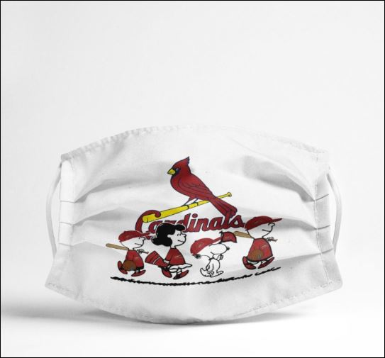 Snoopy and friends st louis cardinals anti pollution face mask 4