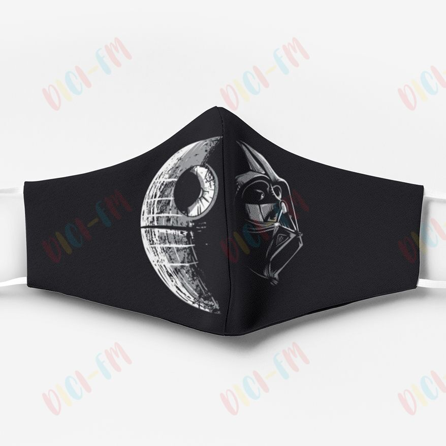 Star wars darth vader and death star anti pollution face mask 1