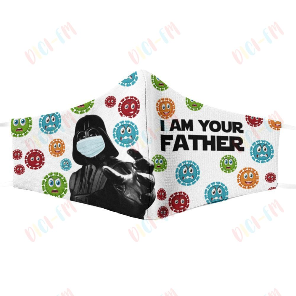 Star wars darth vader i am your father coronavirus face mask 1