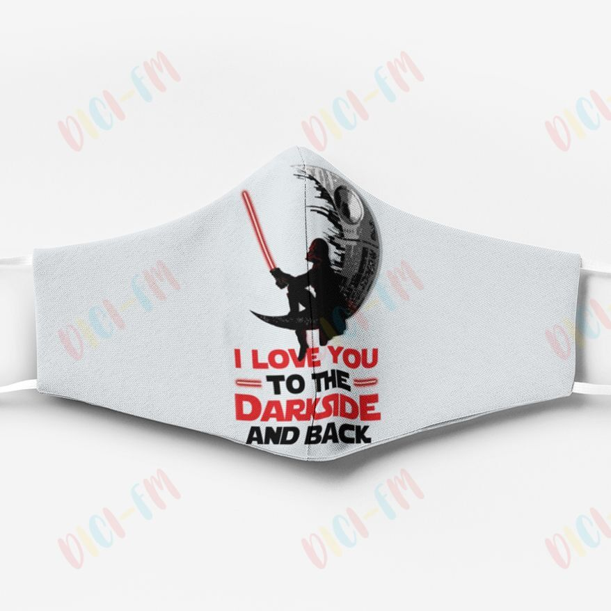 Star wars darth vader i love you to the dark side and back face mask 4