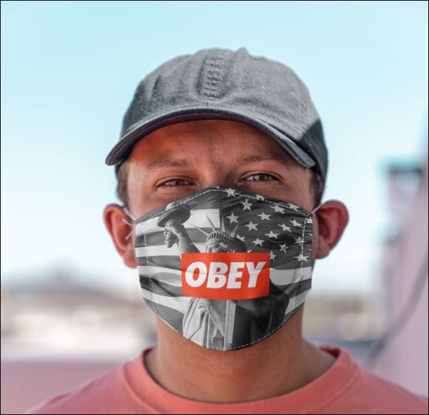 Statue of liberty obey anti pollution face mask 2