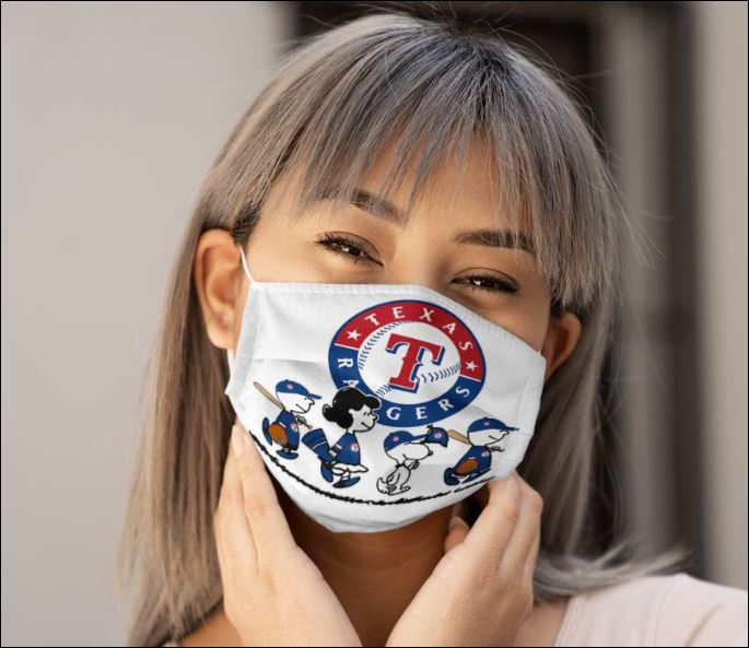 Texas rangers snoopy and friends anti pollution face mask 3