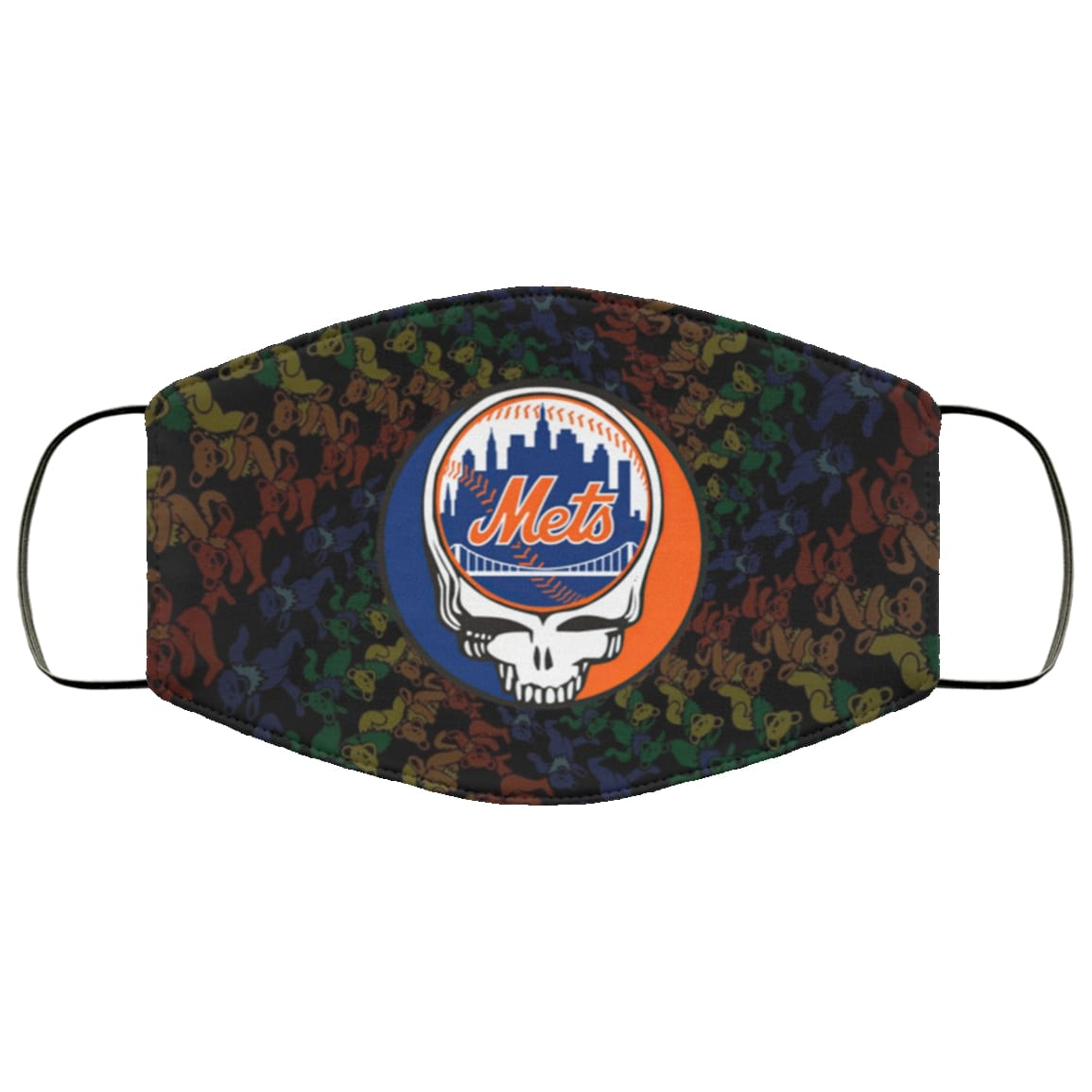 The grateful dead new york mets full over printed face mask 1