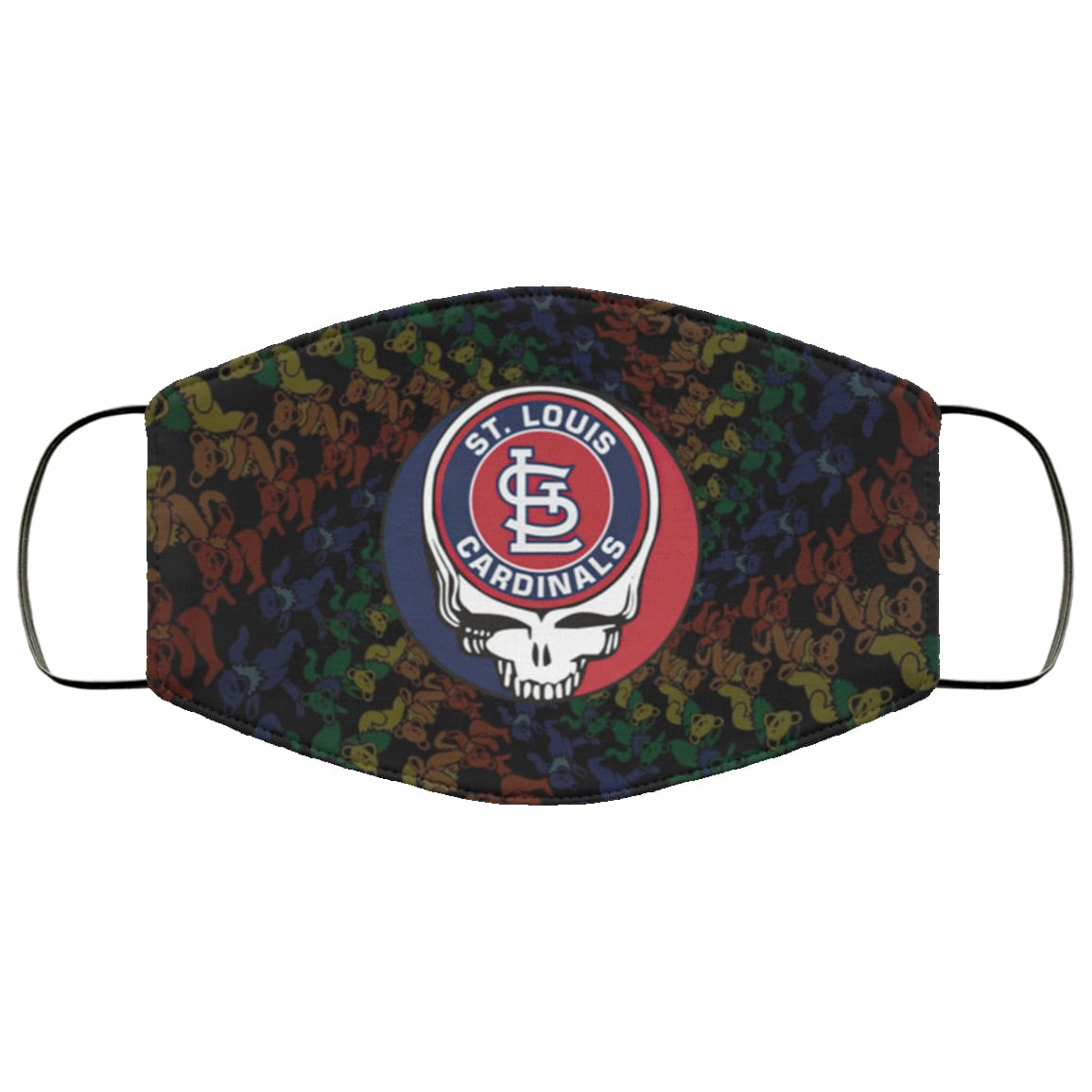 The grateful dead st louis cardinals full over printed face mask 3