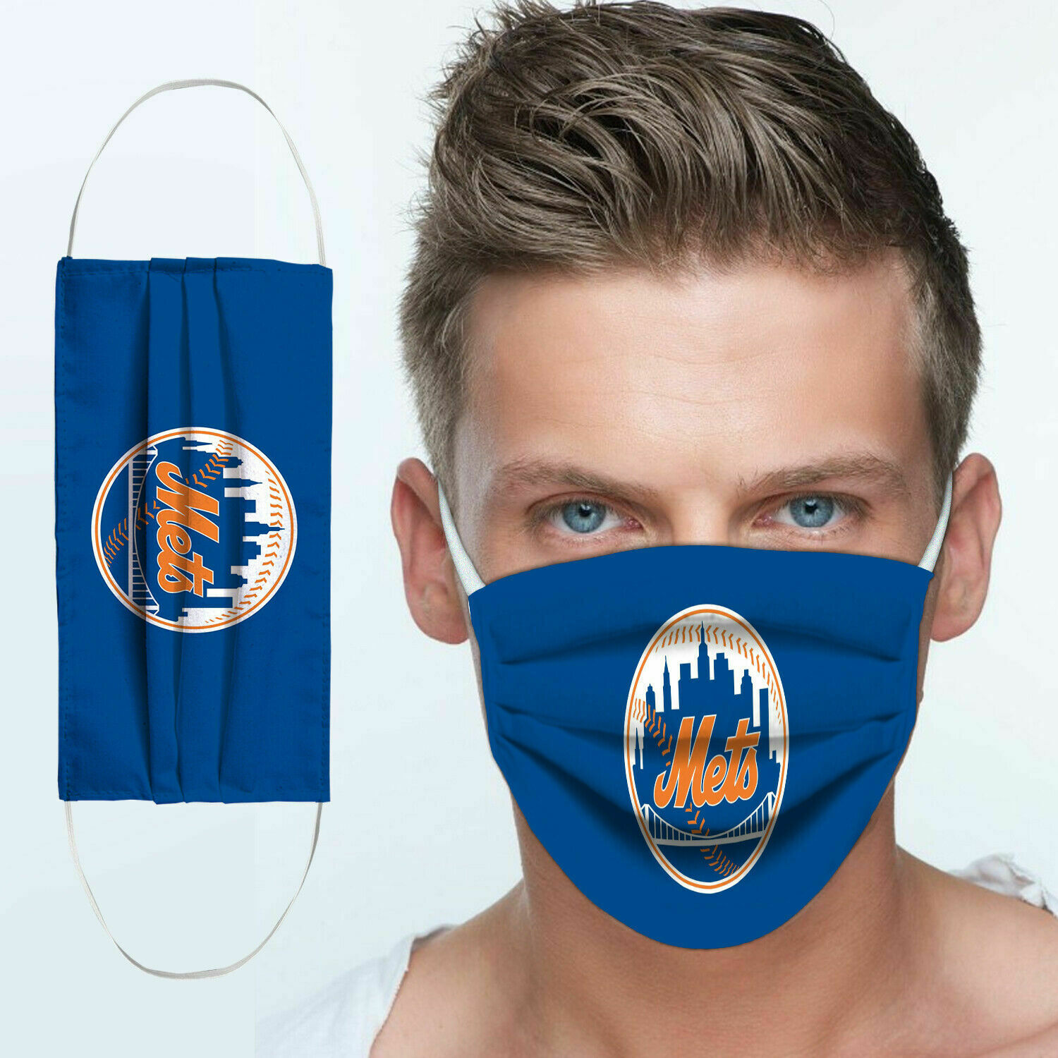 The new york mets anti pollution face mask 3