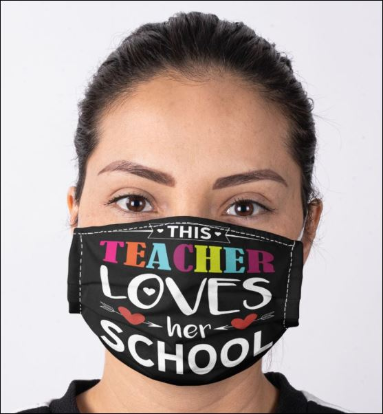 This teacher loves her school anti pollution face mask 1