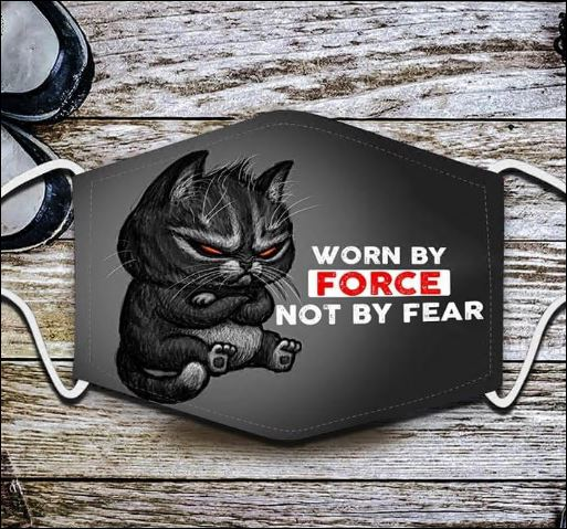 Worn by force not by fear black cat anti pollution face mask 4