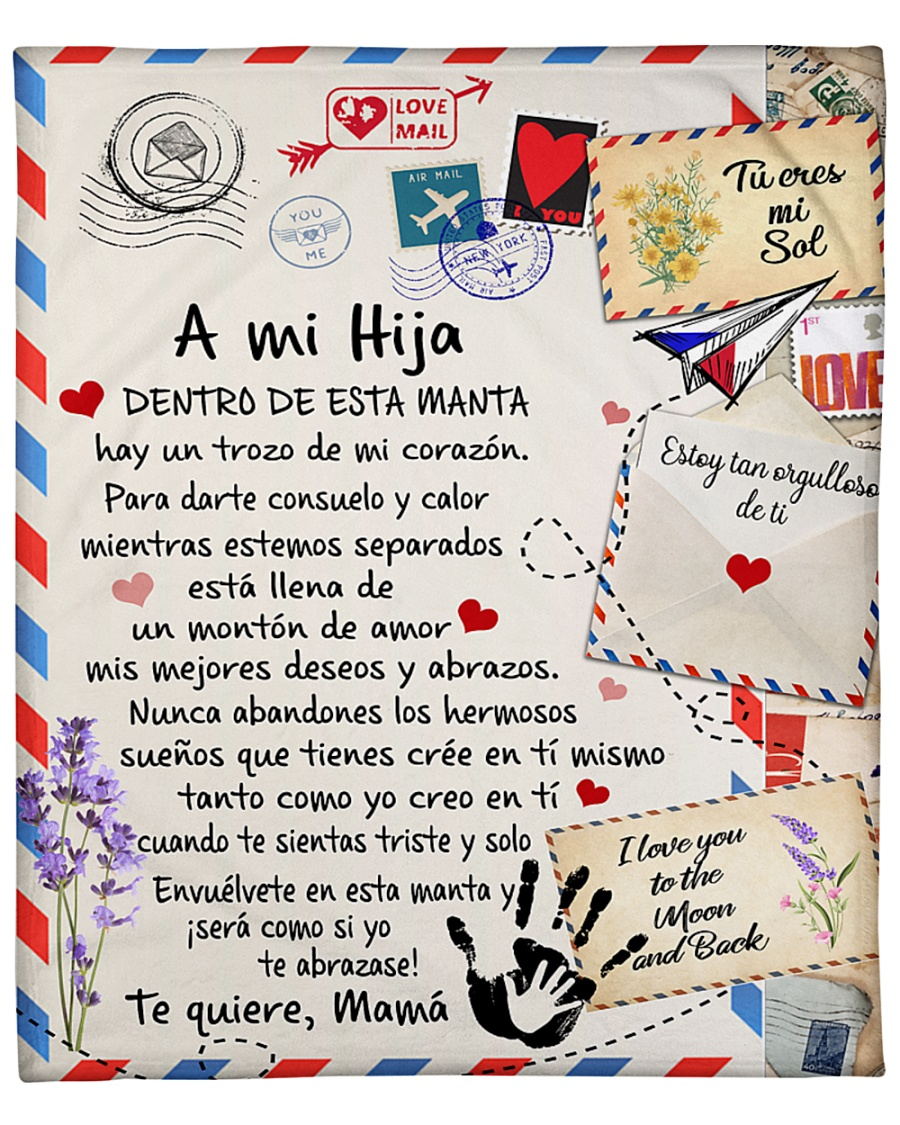 air mail a mi hija to quiere mama blanket 1