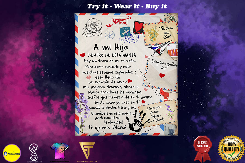 air mail a mi hija to quiere mama blanket - Copy (2)