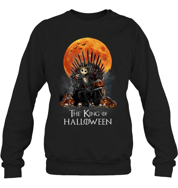 game of thrones jack skellington the king of halloween sweatshirt