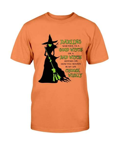halloween darling whether im a good witch or a bad witch choose wisely witch tshirt