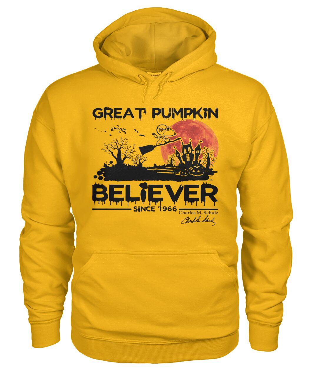 halloween great pumpkin believer since 1966 snoopy hoodie
