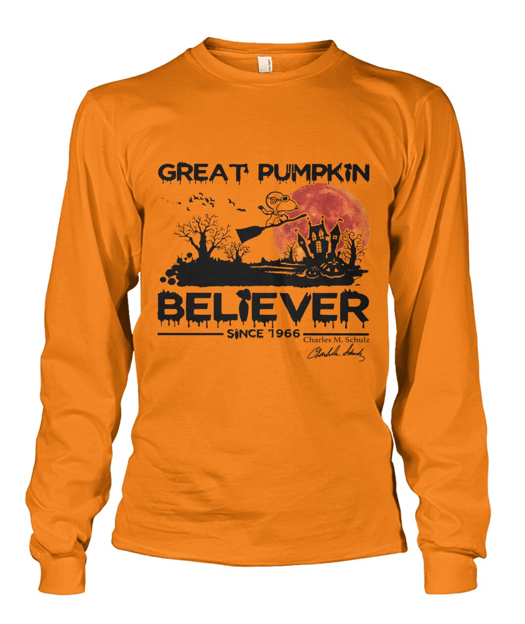 halloween great pumpkin believer since 1966 snoopy sweatshirt