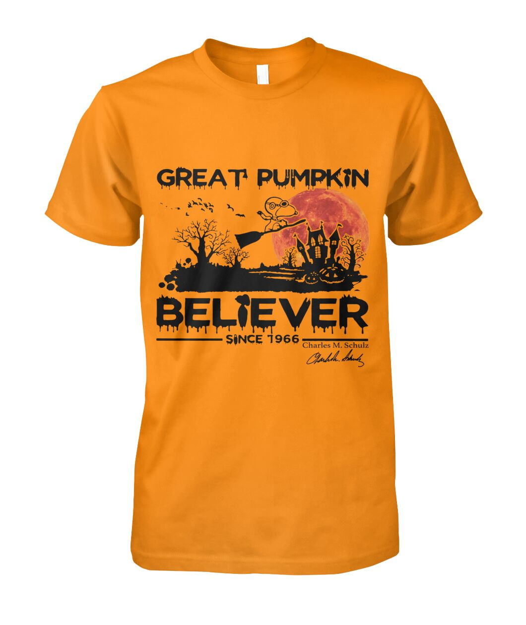 halloween great pumpkin believer since 1966 snoopy tshirt
