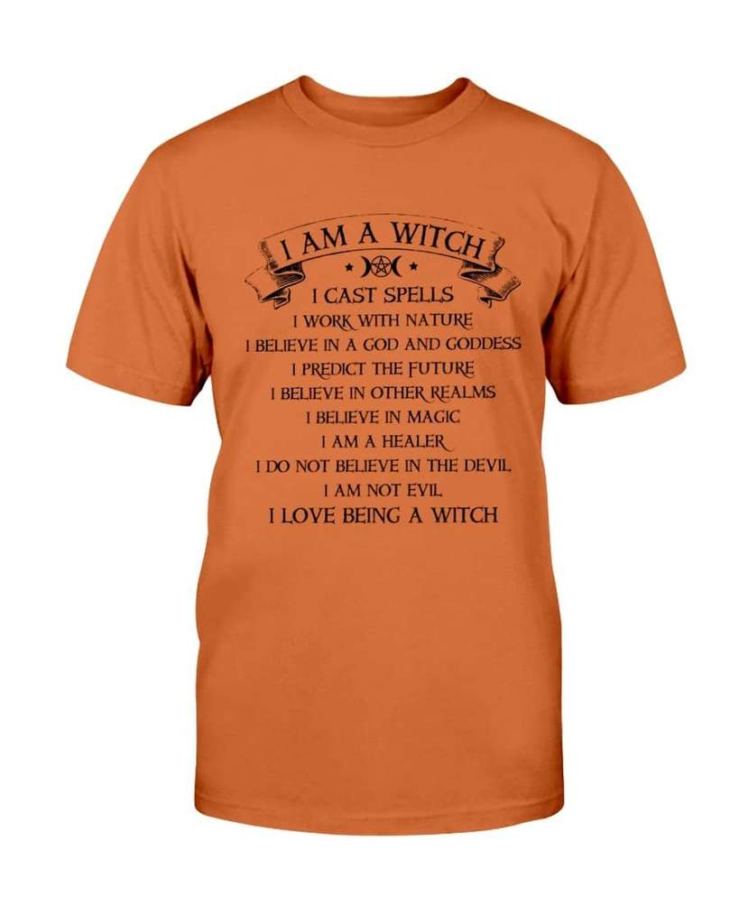halloween i am a witch i am not evil i love being a witch tshirt