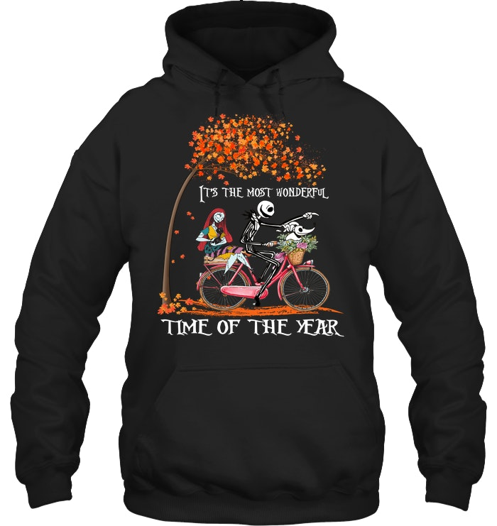 halloween jack skellington and sally time of the year hoodie