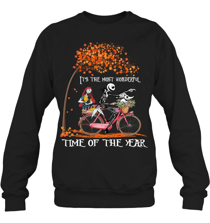 halloween jack skellington and sally time of the year sweatshirt