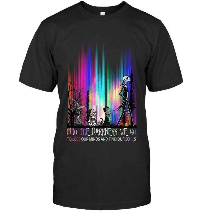 halloween jack skellington into the darkness we go shirt 1