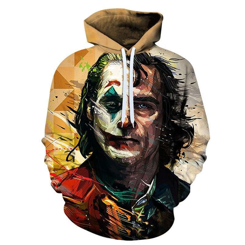 halloween joker joaquin phoenix all over printed hoodie