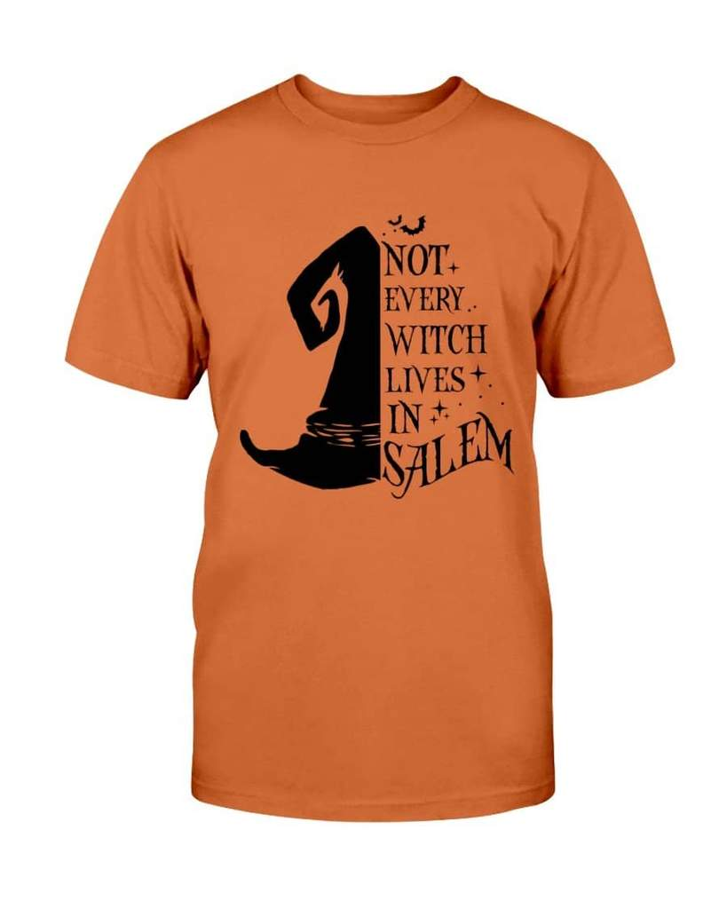 halloween not every witch lives in salem tshirt