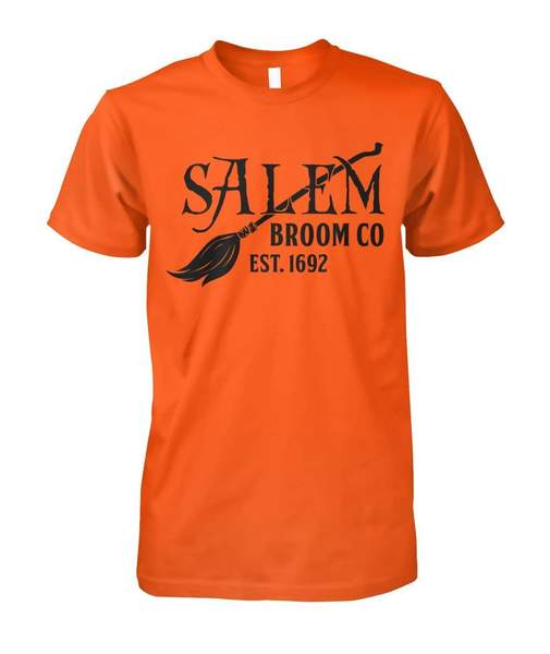 halloween salem broom company est 1692 tshirt